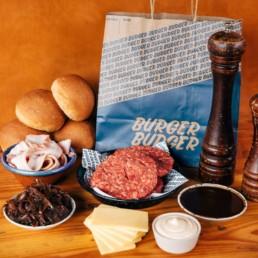 Delicious burger delivery service