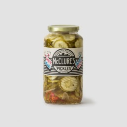 McClures sweet and spicy crinkle cut pickles - Burger Burger